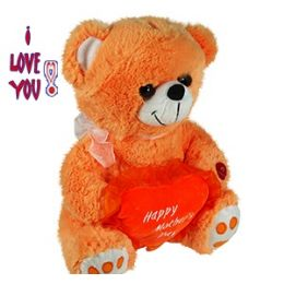 24 Units of PLUSH ORANGE MOTHER'S DAY BEARS W/SOUND. - Mothers Day