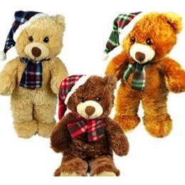 24 Units of Plush Christmas Bears - Christmas Novelties