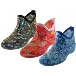 24 Units of Women's Water Proof Ankle Height Garden Shoes, Rain Boots - Women's Boots