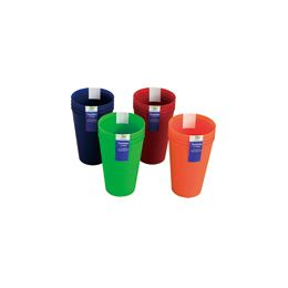 48 Units of 4 Pack Tumblers 14oz - Plastic Drinkware