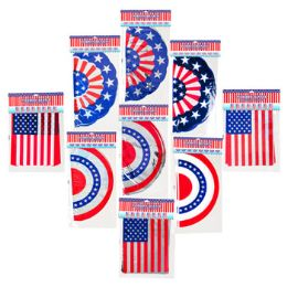 72 Units of Assorted Patriotic Banners - 4th Of July