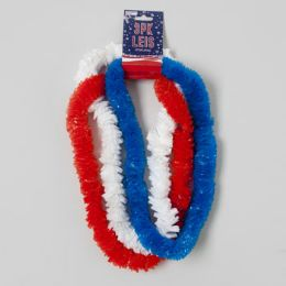 72 Units of Lei Poly Patriotic 3pk Red/white/blue 2in Dia Patriotic Barbell Card - 4th Of July