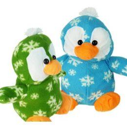 24 Units of Plush Christmas Penguins - Christmas Novelties