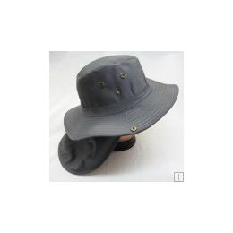 24 Units of Men's Solid Color Bucket Hat - Hunting Caps