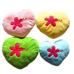 "30 Units of PLUSH HEART EMBROIDERED WITH ""LOVE - Pillows"