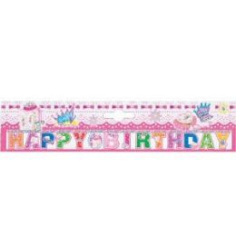 216 Units of PRINCESS BIRTHDAY PARTY BANNERS - Party Banners