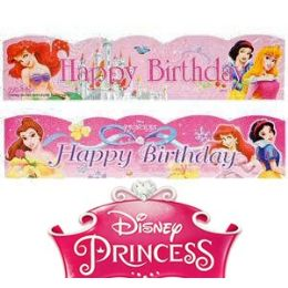 120 Units of DISNEY'S PRINCESSES BIRTHDAY PARTY BANNERS - Party Banners
