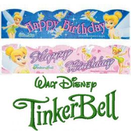 120 Units of DISNEY TINKERBELL BIRTHDAY PARTY BANNERS. - Party Banners