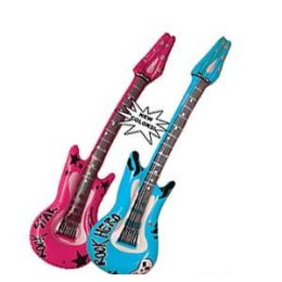 48 Units of Rock Hero Inflatable Guitars - Inflatables