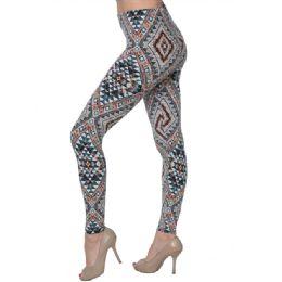 36 Units of Fashion Tribal Print Leggings - Womens Tights