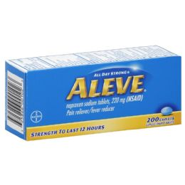 50 Units of Aleve Pain Reliever/Fever Reducer, 200ct - Pain and Allergy Relief