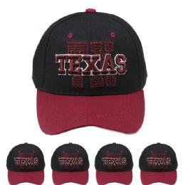 24 Units of Baseball Cap Texas - Baseball Caps & Snap Backs