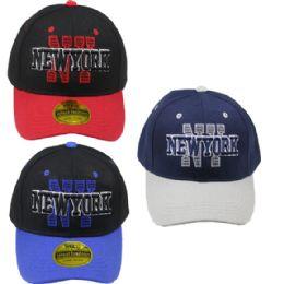 24 Units of Baseball Cap Assorted Colors New York - Baseball Caps & Snap Backs