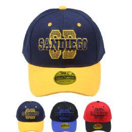 24 Units of Adult Baseball Cap (san Diego) - Baseball Caps & Snap Backs