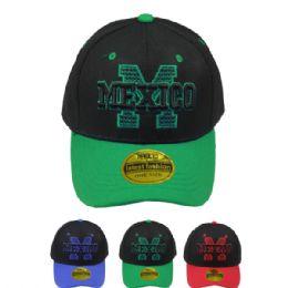 24 Units of Adult Baseball Cap Mexico - Baseball Caps & Snap Backs