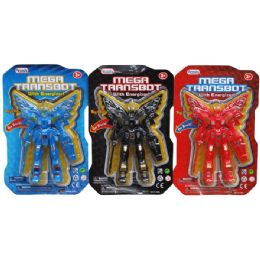 96 Units of Mega Trasbot With Light On Blister Card - Action Figures & Robots