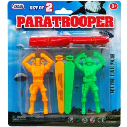 "144 Units of 2 Piece ""paratrooper"" Play Set W. Launcher - Action Figures & Robots"