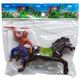 288 Units of Indian & Horse Play Set - Action Figures & Robots