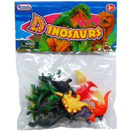 """108 Units of 12PC 2"""" PLASTIC DINOSAURS IN POLY BAG W/HEADER - Animals & Reptiles"""