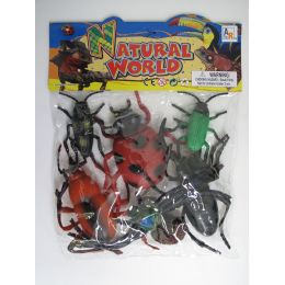 """24 Units of 6.5"""" 6 PC TOY INSECT SET IN POLY BAG W/HEADER - Animals & Reptiles"""