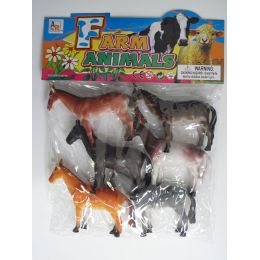 """24 Units of 6.5"""" 6PC YPY HORSE SET IN POLY BAG W/HEADER - Animals & Reptiles"""