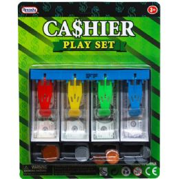96 Units of PLAYING MONEY CASH DRAWER W/COINS IN BLISTER CARD - Educational Toys