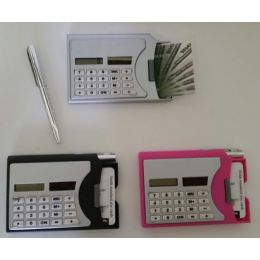 48 Units of Calculator with Business Card Dispenser & Pen - Calculators