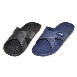 48 Units of Men Slip On Sandals Assorted Colors - Men's Slippers