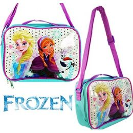 24 Units of Disney's Frozen Soft Lunch Boxes. - Licensed Backpacks