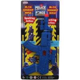 "96 Units of 9"" M-16 Police Toy Rifle W/sparking Action Tied On Card - Action Figures & Robots"