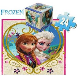 24 Units of Disney's Frozen Cube Jigsaw Puzzles. - Puzzles
