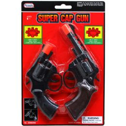 96 Units of 2PC SUPER CAP TOY GUNS(REVOLVERS) IN BLISTER CARD - Toy Weapons