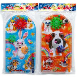"""96 Units of 11"""" Hand Pinball Game In Peg Able Pp Bag, 4assorted Colors - Dominoes & Chess"""