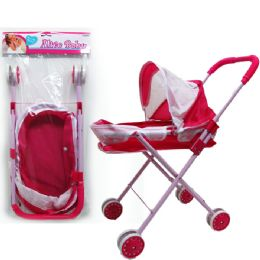 "24 Units of 21""H STEEL FRAME SPORT DOLL STROLLER IN POLY BAG W/HEADER - Dolls"