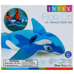 6 Units of LITTLE WHALE RIDE ON WITH HANDLES - Summer Toys