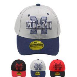 24 Units of Baseball Cap Miami - Baseball Caps & Snap Backs