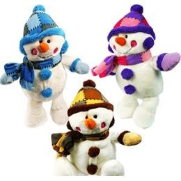 48 Units of Plush Christmas Snowmen - Christmas Novelties