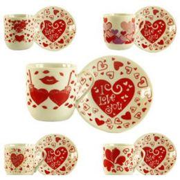 "72 Units of ""I LOVE YOU"" DEMITASSE CUP. - Coffee Mugs"