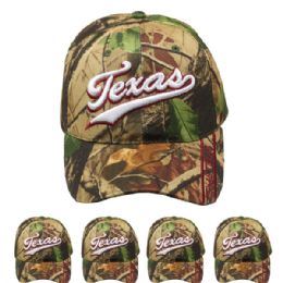 24 Units of Hunting Cap Camo (texas) Velcro Adjustable - Hunting Caps