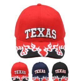 24 Units of Baseball Cap Texas Flames - Baseball Caps & Snap Backs