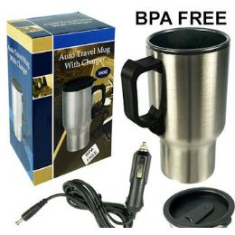 24 Units of HEATED CAR TRAVEL MUG W/CHARGER. - Auto Accessories