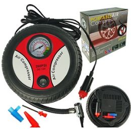 12 Units of Portable Air Compressor - Auto Steering Wheel Covers
