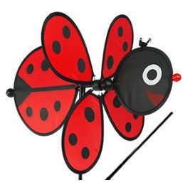 48 Units of LADYBUG WHIRLEYGIGS. - Wind Spinners