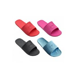 72 Units of Womans Slip On Slipper Assorted Colors