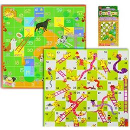 36 Units of 2-IN-1 Snakes And Animal & Ladders Games - Dominoes & Chess