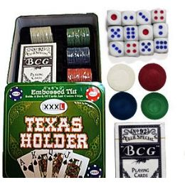 12 Units of Texas Hold'em Poker Sets. - Playing Cards, Dice & Poker