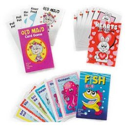 192 Units of LAMINATED KIDDIE CARD GAME ASSORTMENTS - Card Games