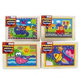24 Units of Wooden Jigsaw Puzzles - Puzzles