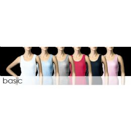 72 Units of Women's Ribbed Tank Tops - Womens Active Wear