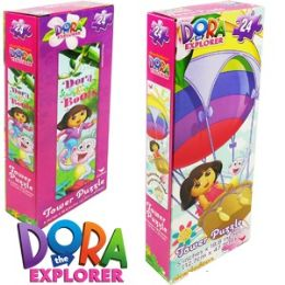 36 Units of DORA THE EXPLORER TOWER JIGSAW PUZZLES. - Puzzles